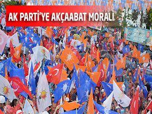 AK Parti'ye Akçaabat Morali