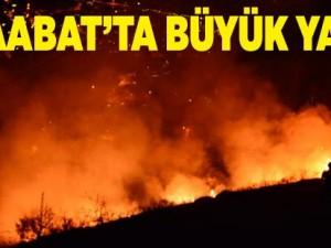 Akçaabat'ta Büyük Yangın
