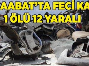 Akçaabat  Feci Kaza 1 Ölü 12 Yaralı