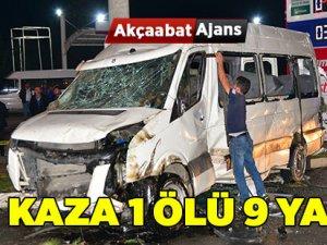 Akçaabat'ta Feci Kaza 1 Ölü 9 Yaralı