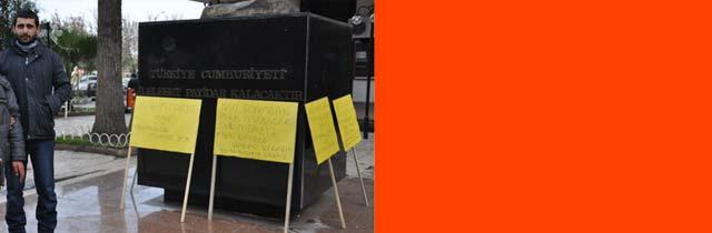 İşsiz Gencin Protestosu