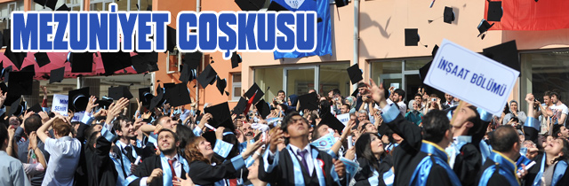 Yüksek Okulda mezuniyet Sevinci