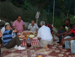 Korucu Köyünde Afrikalı Misafir