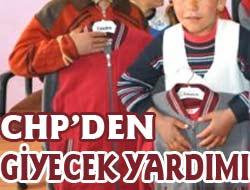 CHPden Giyecek Yardımı