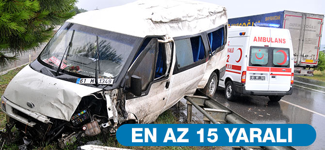 Salacık'ta kaza: En az 15 yaralı