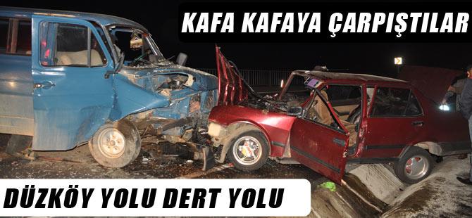 Akçaabat'ta meydana gelen trafik kazasında 2 kişi yaralandı.