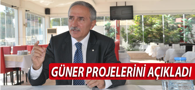 Ahmet Güner basın toplantısı düzenledi.