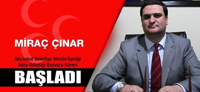 MHP Akçaabat Belediye Meclis Üyeliği Aday Adaylığı Başvuru Başladı.