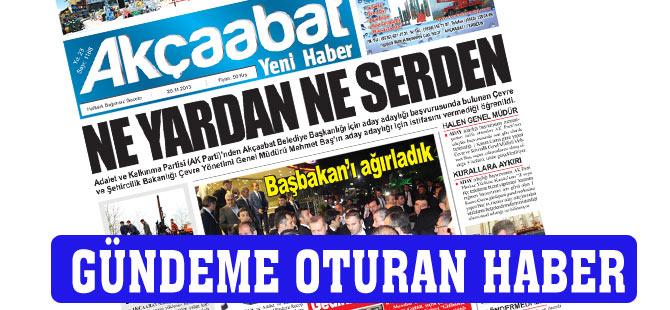 Akçaabat Yeni Haber Gazetesi'nin bu haftaki manşet haberi gündeme oturdu.
