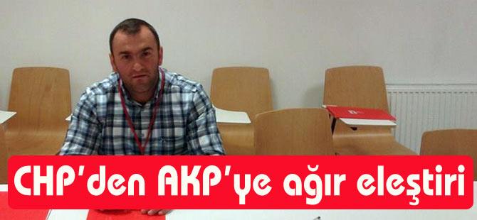 CHP'den AKP'ye Eleştiri
