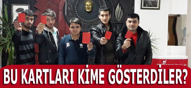 Akçaabat'ta bu kırmızı kartlar kime gösterildi.