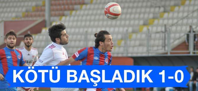 Akçaabat Futbol Kulübü Bergama Belediyespor'a 1-0 mağlup oldu.