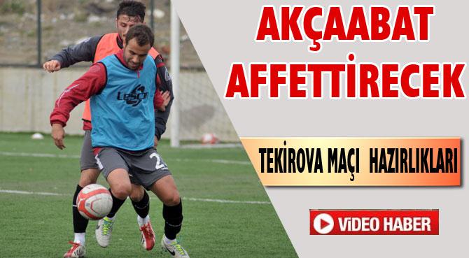 Akçaabat FK Tekirova'ya Hazırlanıyor