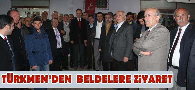 Türkmen Köylerde vatandaş ile buluştu.