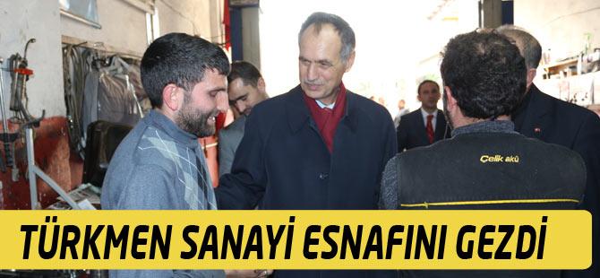Akçaabat Belediye Başkanı Şefik Türkmen Sanayi Esnafını Ziyaret etti.