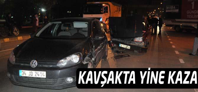 Akçaabat Belediye Kavşağı'nda Trafik Kazası
