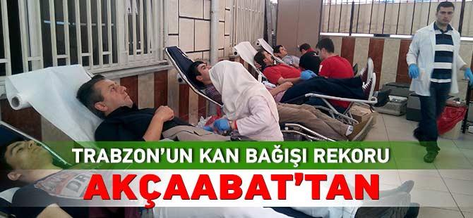 Trabzon'un Kan Bağış Rekoru Akçaabat'tan