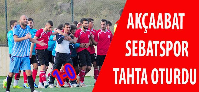 Akçaabat Sebatspor Tahta Oturdu 1-0