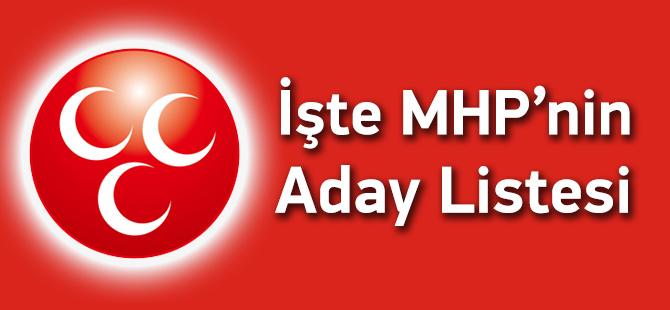 MHP Adayları Listesi