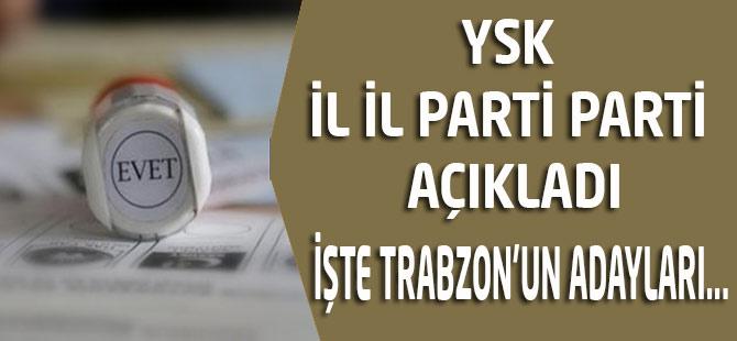 YSK il il parti parti milletvekili adaylarının listesini açıkladı