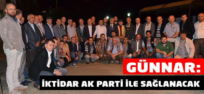 İktidar AK Parti ile Sağlanacak