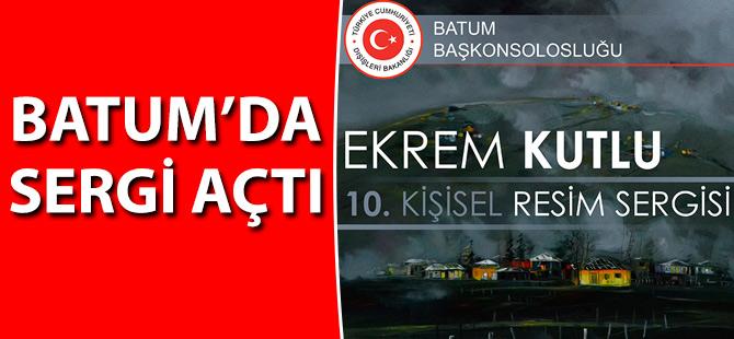 Batum'da Sergi Açtı