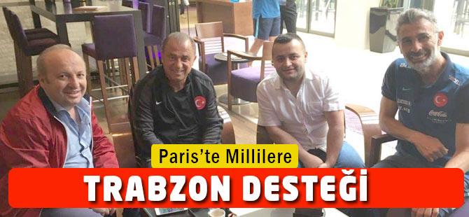 Milli takıma Paris'te Trabzon desteği!