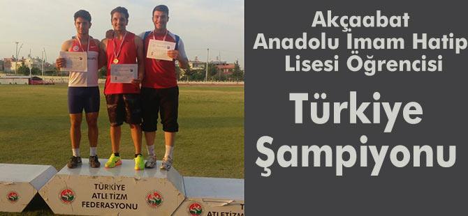 Burak Dertli Türkiye Şampiyonu