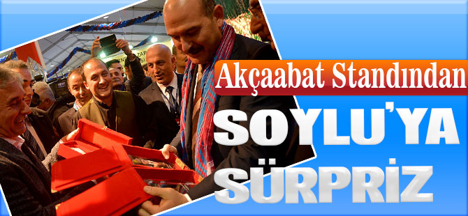 Soylu'ya Akçaabat'tan Sürpriz