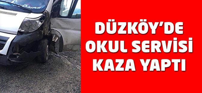 Düzköy'de Okul Servisi Kaza Yaptı