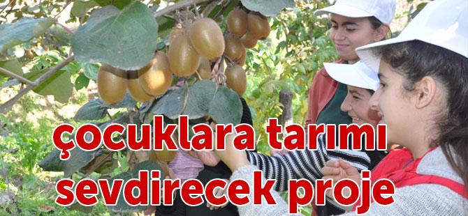 Çocuklara toprağı ve tarımı sevdirecek proje