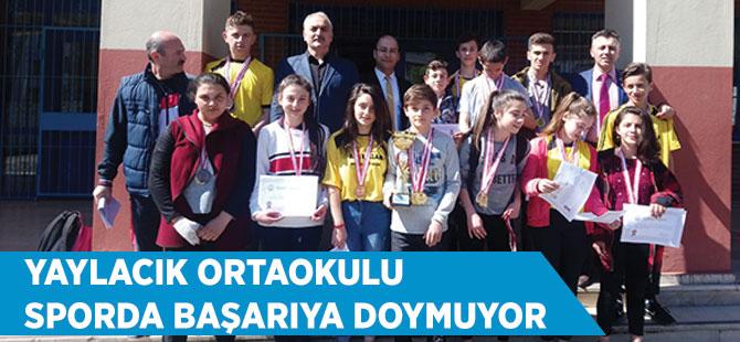 Yaylacık Ortaokulu Sporda Başarıya Doymuyor