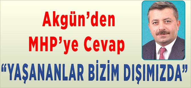 Akgün'den MHP'ye Cevap