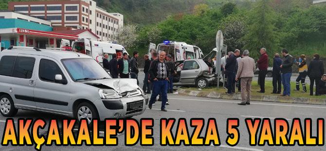Akçaabat'ta Kaza 5 Yaralı