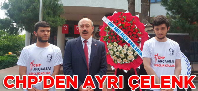 CHP'den Alternatif Kutlama