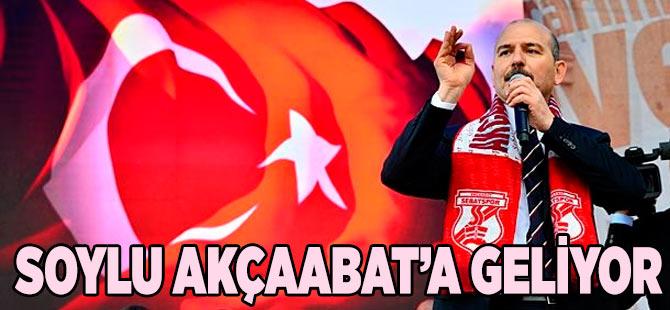 İç İşleri Bakanı Süleyman Soylu Akçaabat'a geliyor.