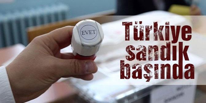 Türkiye sandık başında... Oy verme işlemi başladı