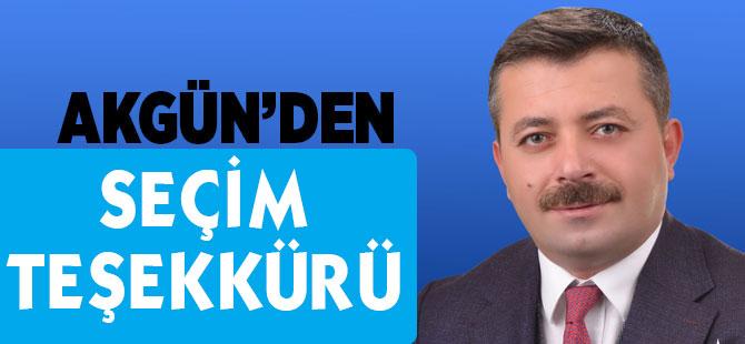 Akgün'den Teşekkür