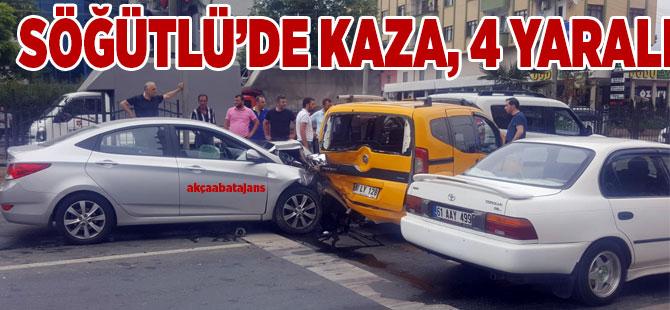 Akçaabat'ta Trafik Kazası 4 yaralı