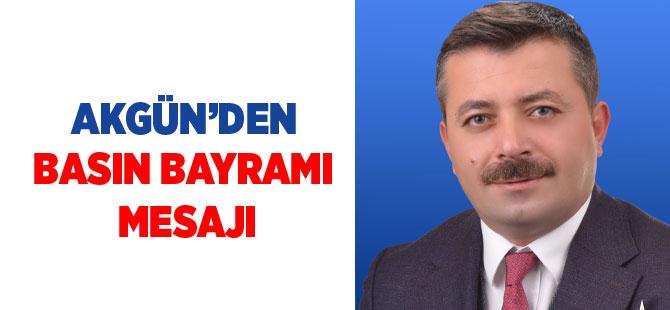 Akgün'den basın bayramı mesajı