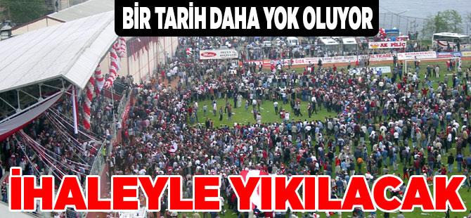 Fatih Stadı Yıkılıyor