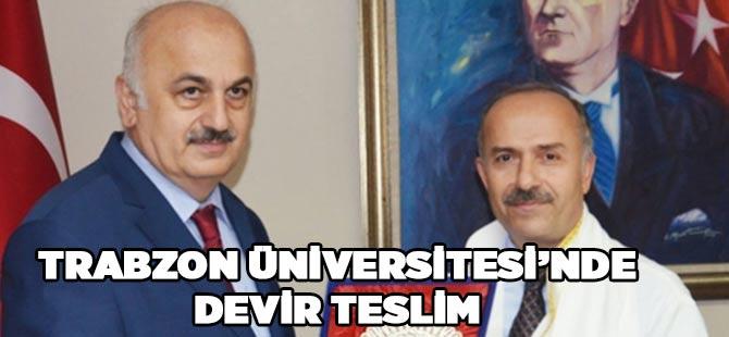 Trabzon Üniversitesi'nde Devir Teslim