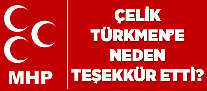 MHP Türkmen'e Teşekkür Etti.