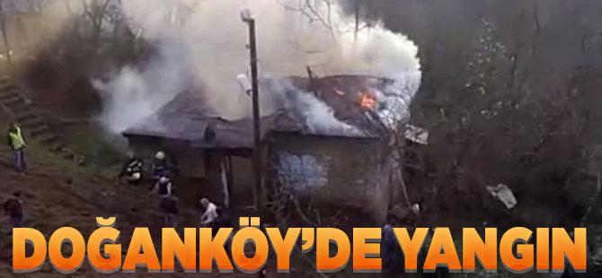 Doğanköy'de Yangın