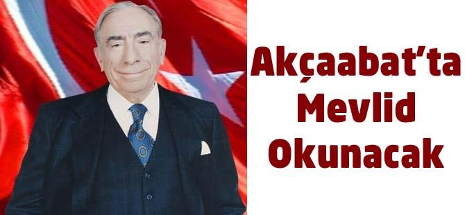 Türkeş İçin Mevlid Okunacak