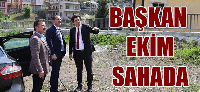Başkan Ekim Sahada