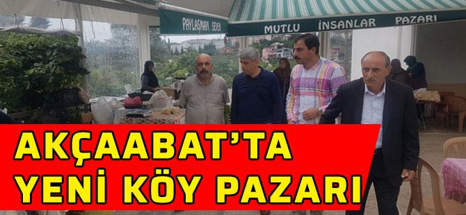Akçaabat'ta Yeni Köy Pazarı