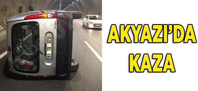 Akyazı Tünelinde Kaza
