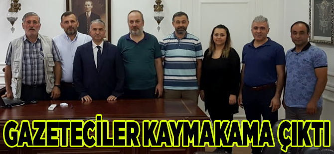 Gazetecilerden Kaymakama Ziyaret