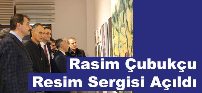 Rasim Çubukçu'nun Resim Sergisi Açıldı